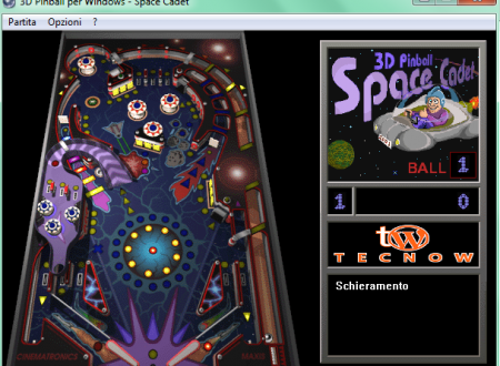 Trucchi Pinball 3D per Windows – Space Cadet