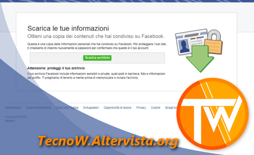 La tua storia di Facebook