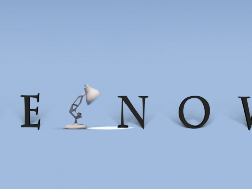 Disney Pixar, intro personalizzata – Blender & After Effects