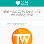 2016bestnine, le 9 migliori foto del tuo Instagram 2016!