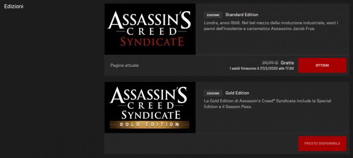 Assassin's Creed Syndicate - Edizioni