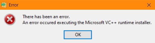 PostgreSQL - Errore Microsoft VC++ runtime