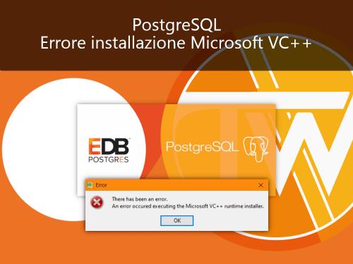 PostgreSQL: Errore durante installazione Microsoft VC++