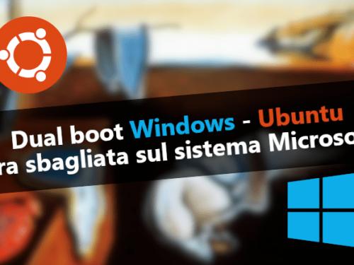 Dual boot Windows – Ubuntu: correggere ora sbagliata su Windows