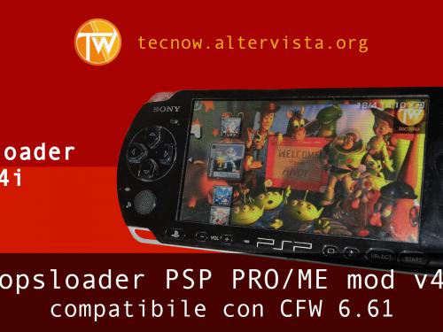 Popsloader PSP PRO/ME mod v4i – compatibile con CFW 6.61